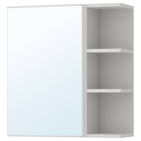 LILLÅNGEN mirror cabinet 1 door/1 end unit white/grey 59 cm 21 cm 64 cm