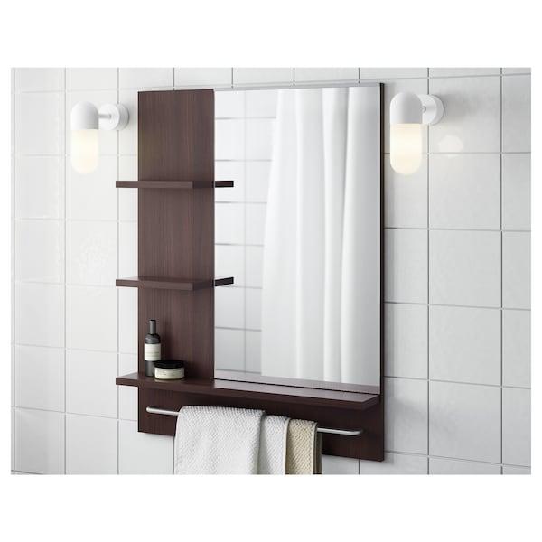 LILLÅNGEN mirror black-brown 60 cm 11 cm 78 cm 2 kg