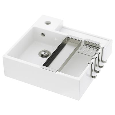 LILLÅNGEN Single wash-basin, white, 41x41x13 cm