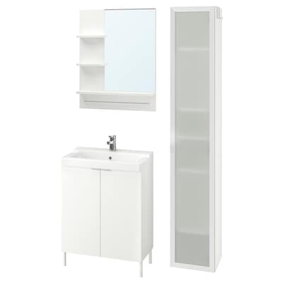 LILLÅNGEN / TÄLLEVIKEN Bathroom furniture, set of 6, white/Ensen tap, 61 cm