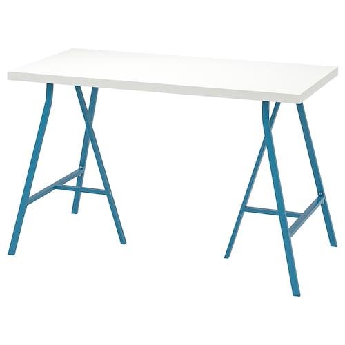 LINNMON / LERBERG table white/blue 120 cm 60 cm 74 cm 50 kg
