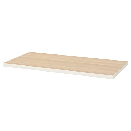 LINNMON table top white/white stained oak effect 120 cm 60 cm 3.4 cm 50 kg