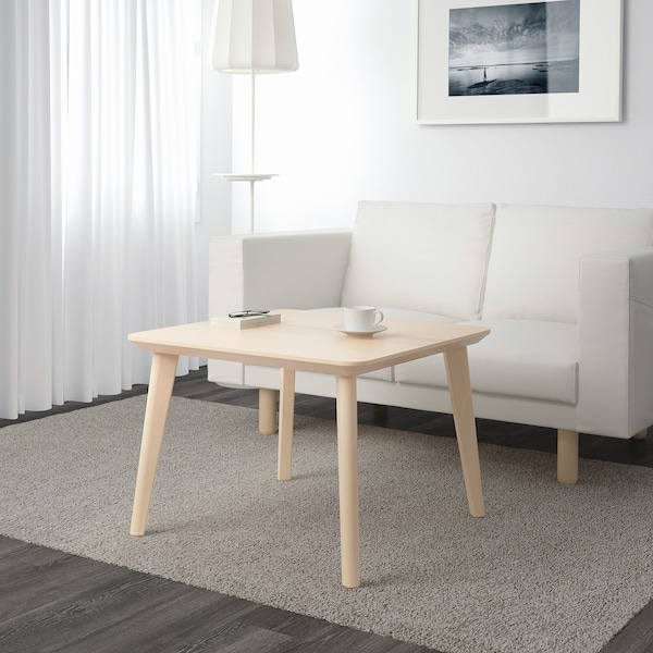 LISABO coffee table ash veneer 70 cm 70 cm 50 cm