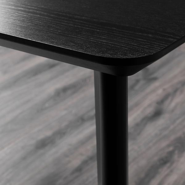 LISABO / RÖNNINGE Table and 4 chairs, black/black, 140x78 cm