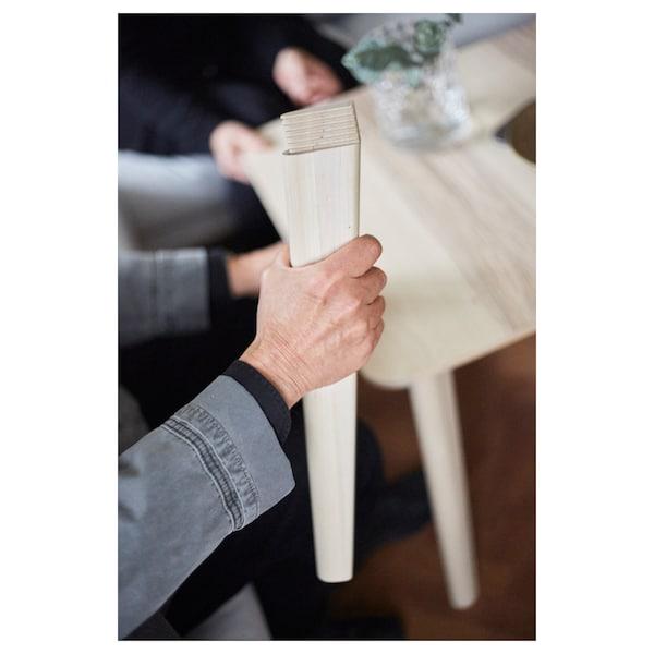 LISABO / RÖNNINGE table and 4 chairs ash veneer/birch 140 cm 78 cm