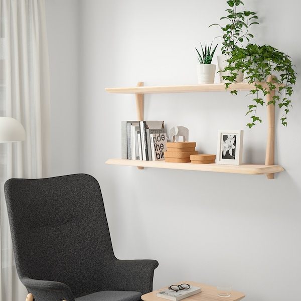 IKEA LISABO Wall shelf combination