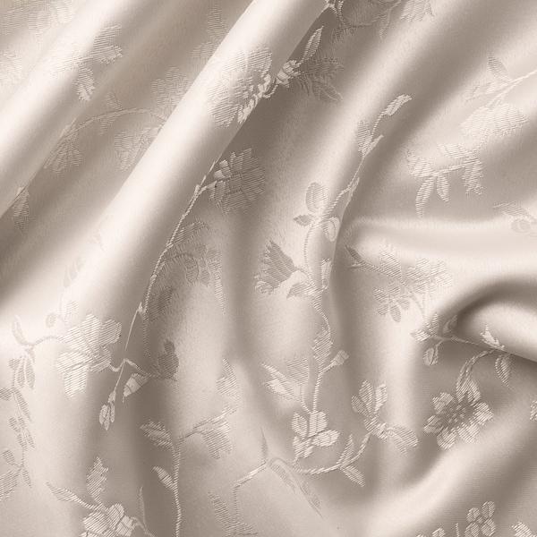LISABRITT Curtains with tie-backs, 1 pair, beige, 145x250 cm