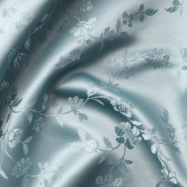 LISABRITT Curtains with tie-backs, 1 pair, blue, 145x250 cm