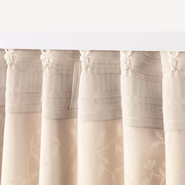 LISABRITT curtains with tie-backs, 1 pair beige 250 cm 145 cm 2.39 kg 3.63 m² 2 pack