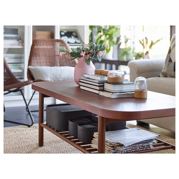 LISTERBY coffee table brown 140 cm 60 cm 45 cm