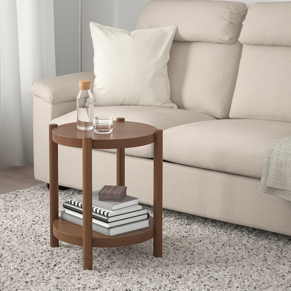 LISTERBY side table brown 56 cm 50 cm
