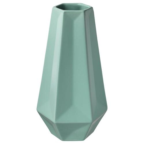 LIVSLÅNG vase green 20 cm