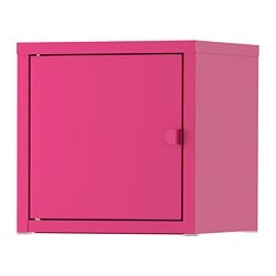 LIXHULT cabinet, metal, pink