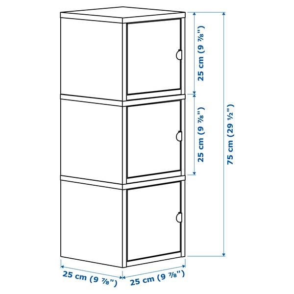 LIXHULT storage combination white/pink 25 cm 25 cm 75 cm