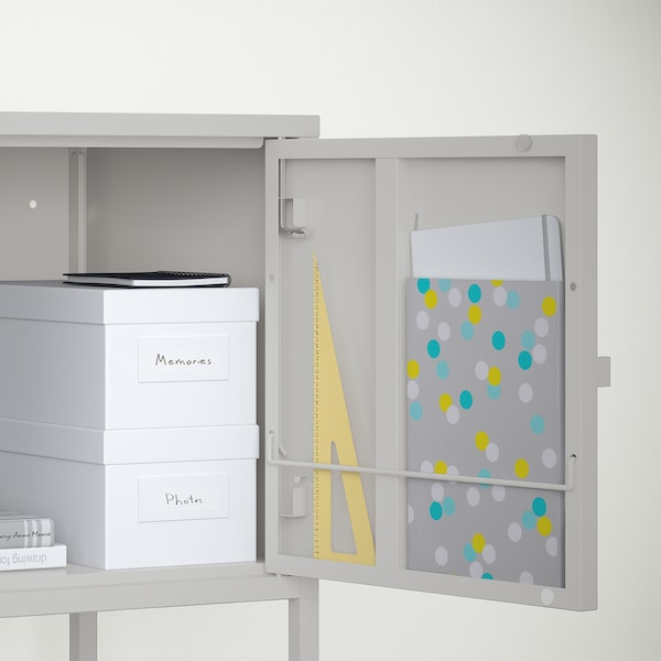 LIXHULT storage combination grey/white/dark blue 60 cm 82 cm 95 cm 35 cm 82 cm 21 cm 12 kg