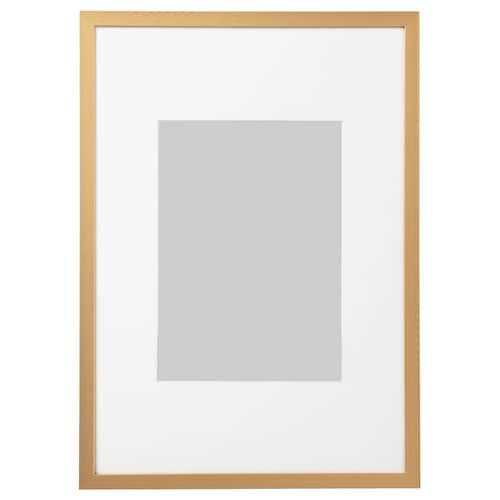 LOMVIKEN Frame, gold-colour, 21x30 cm