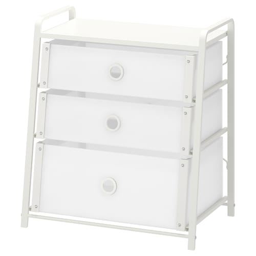LOTE chest of 3 drawers white 55 cm 36 cm 62 cm 29 cm