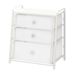 LOTE chest of 3 drawers, white