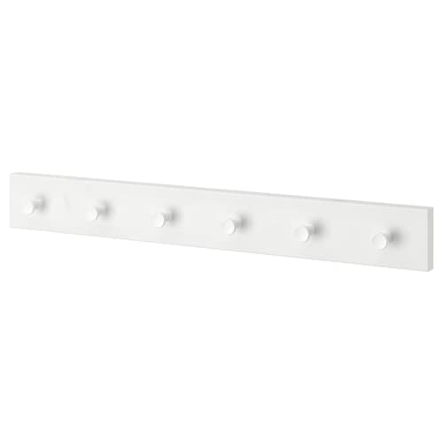 LURT / GUBBARP Rack with 6 knobs, white/white