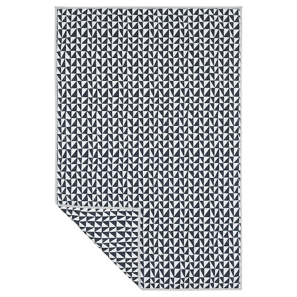 LURVIG Blanket, black/triangle, 100x150 cm