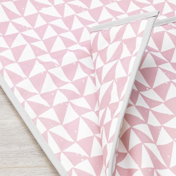 LURVIG Blanket, pink/triangle, 100x150 cm