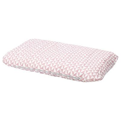 LURVIG Cushion, pink/triangle, 62x100 cm