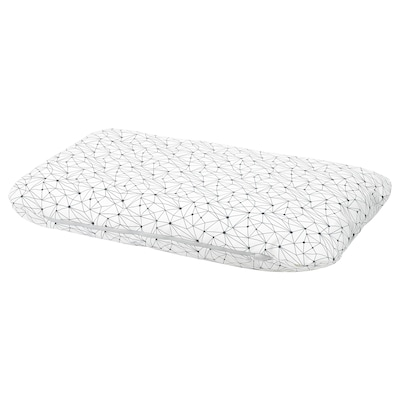 LURVIG Cushion, white/black, 62x100 cm