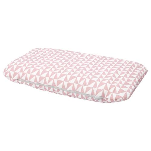 LURVIG cushion pink/triangle 74 cm 46 cm 11.0 cm 400 g 715 g