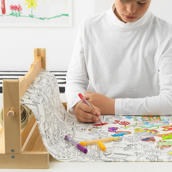 IKEA LUSTIGT Colouring paper roll