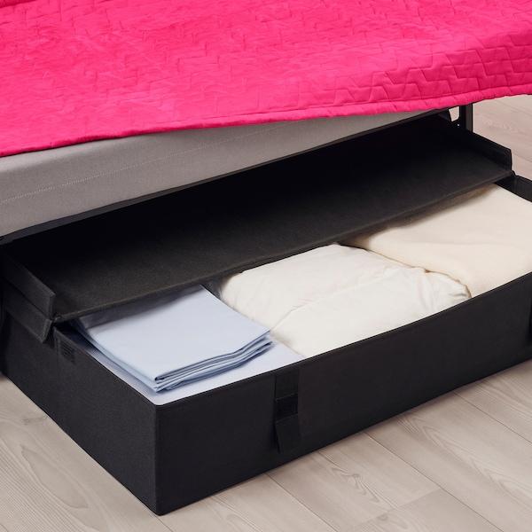 LYCKSELE LÖVÅS 2-seat sofa-bed, Vallarum cerise