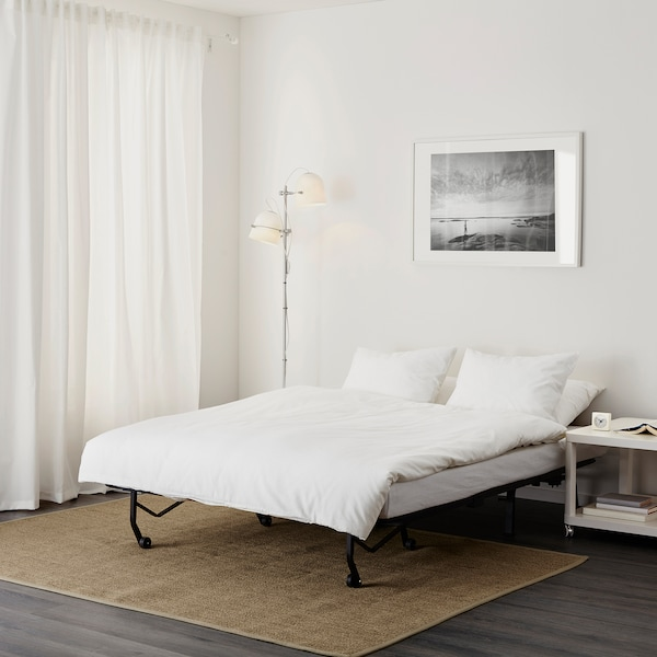 LYCKSELE LÖVÅS Two-seat sofa-bed, Vallarum grey