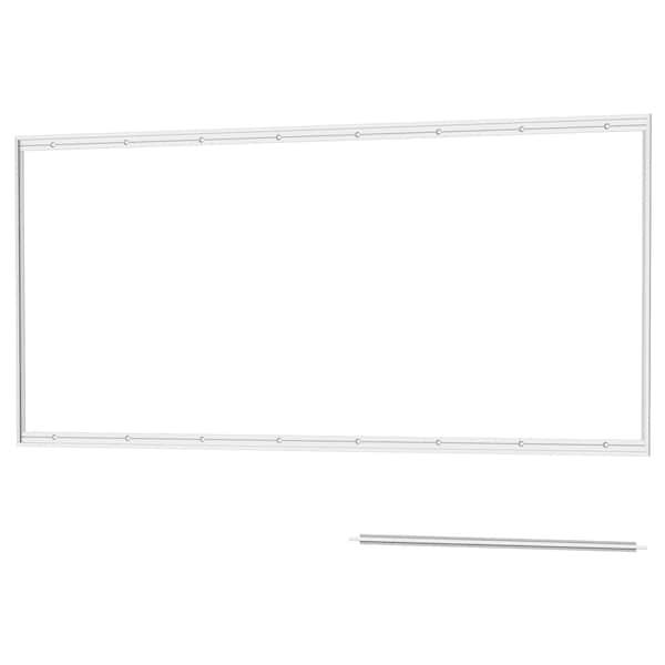 LYSEKIL rail for wall panel aluminium 119.8 cm 55.4 cm