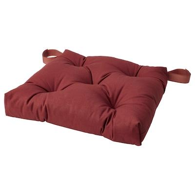 MALINDA Chair cushion, dark brown-red, 40x38x7.0 cm