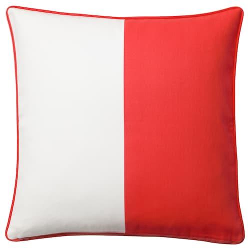 MALINMARIA Cushion cover, red/white, 50x50 cm