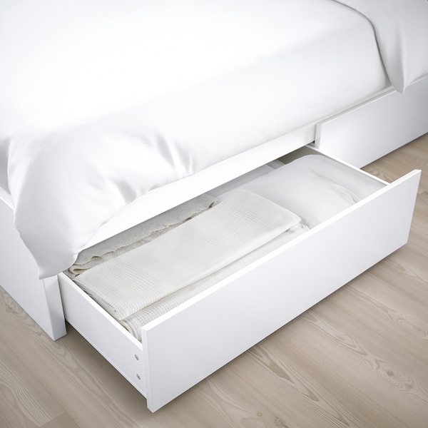 MALM bed storage box for high bed frame white 15 cm 100 cm 62 cm 29 cm 97 cm 59 cm 2 pack 200 cm
