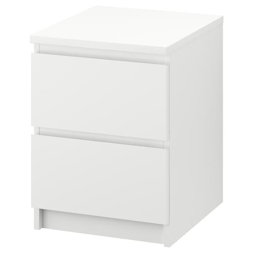 MALM chest of 2 drawers white 40 cm 48 cm 55 cm 43 cm