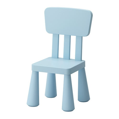 MAMMUT Children's chair IKEA Suitable for both indoor and outdoor use. Made of durable plastic that is easy to clean.