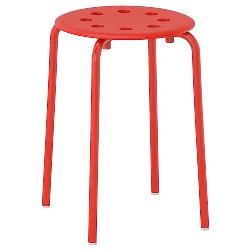 MARIUS stool red 100 kg 32 cm 40 cm 45 cm