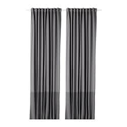 MARJUN block-out curtains, 1 pair, grey
