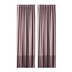 MARJUN room darkening curtains, 1 pair, lilac