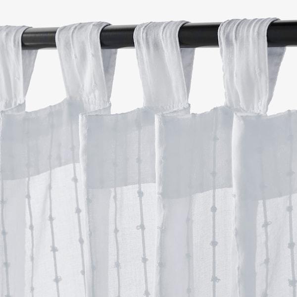 MATILDA sheer curtains, 1 pair white 250 cm 140 cm 0.50 kg 3.50 m² 2 pack