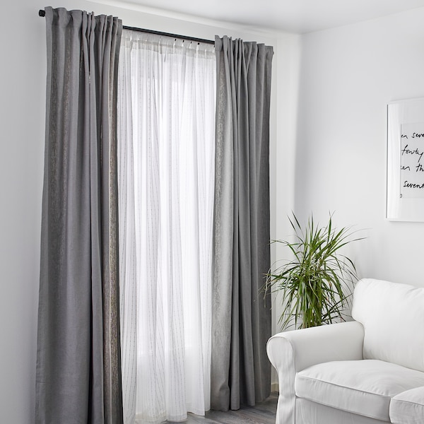 MATILDA sheer curtains, 1 pair white 300 cm 140 cm 0.60 kg 4.20 m² 2 pack