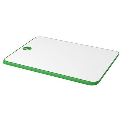 MATLUST Chopping board, green/white, 34x24 cm