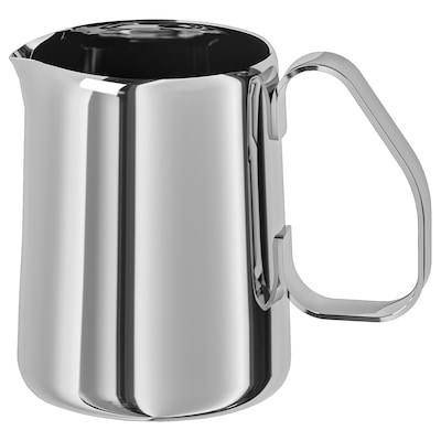 MÅTTLIG Milk-frothing jug, stainless steel, 0.5 l