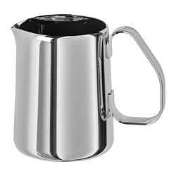 MÅTTLIG milk-frothing jug, stainless steel