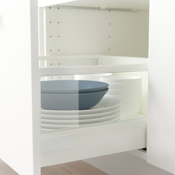 MAXIMERA Add-on side for drawer, high, glass, 37 cm