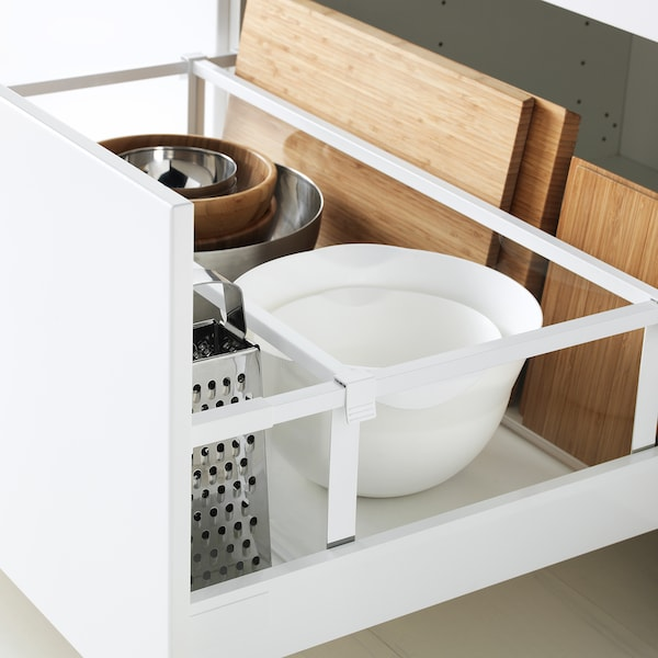 MAXIMERA Drawer, high, white, 80x60 cm