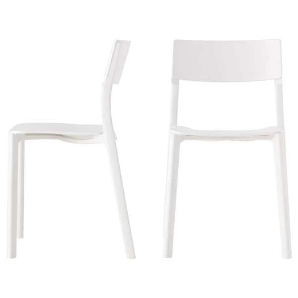 MELLTORP / JANINGE table and 2 chairs white/white 75 cm 75 cm 74 cm