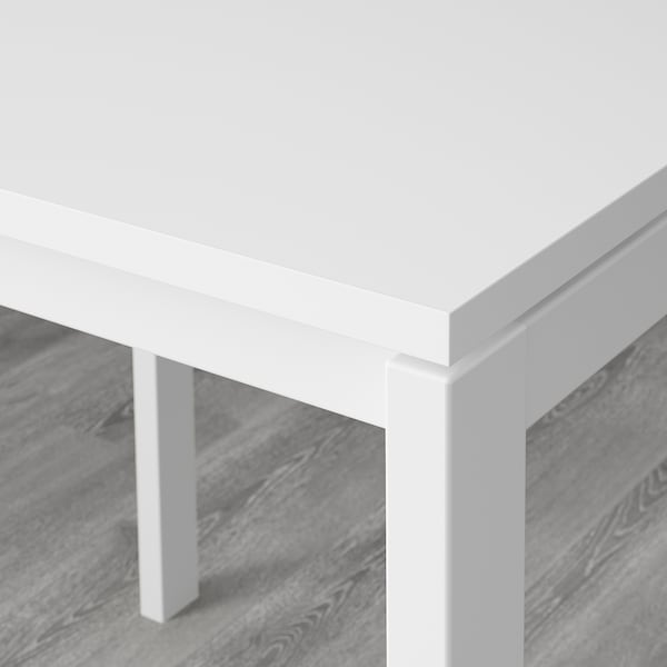 MELLTORP / NISSE table and 2 folding chairs white/dark blue-lilac 75 cm 75 cm 72 cm