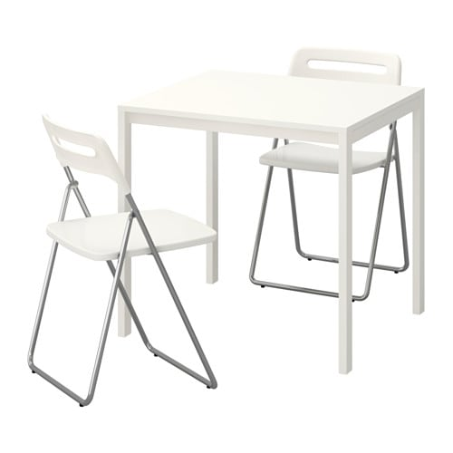 Ideas For Refinishing Ikea Furniture ~ MELLTORP  NISSE Table and 2 folding chairs IKEA The melamine table